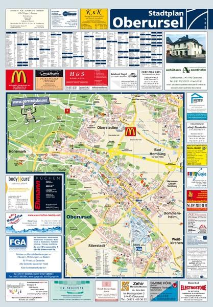 Oberursel Germany  city images : Oberursel Tourist Map Oberursel Germany • mappery