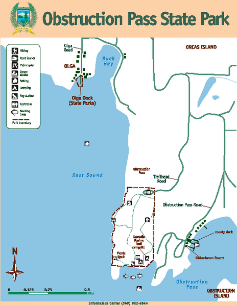 Obstruction Pass State Park Map