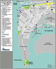 Ocean Beach Tourist Map