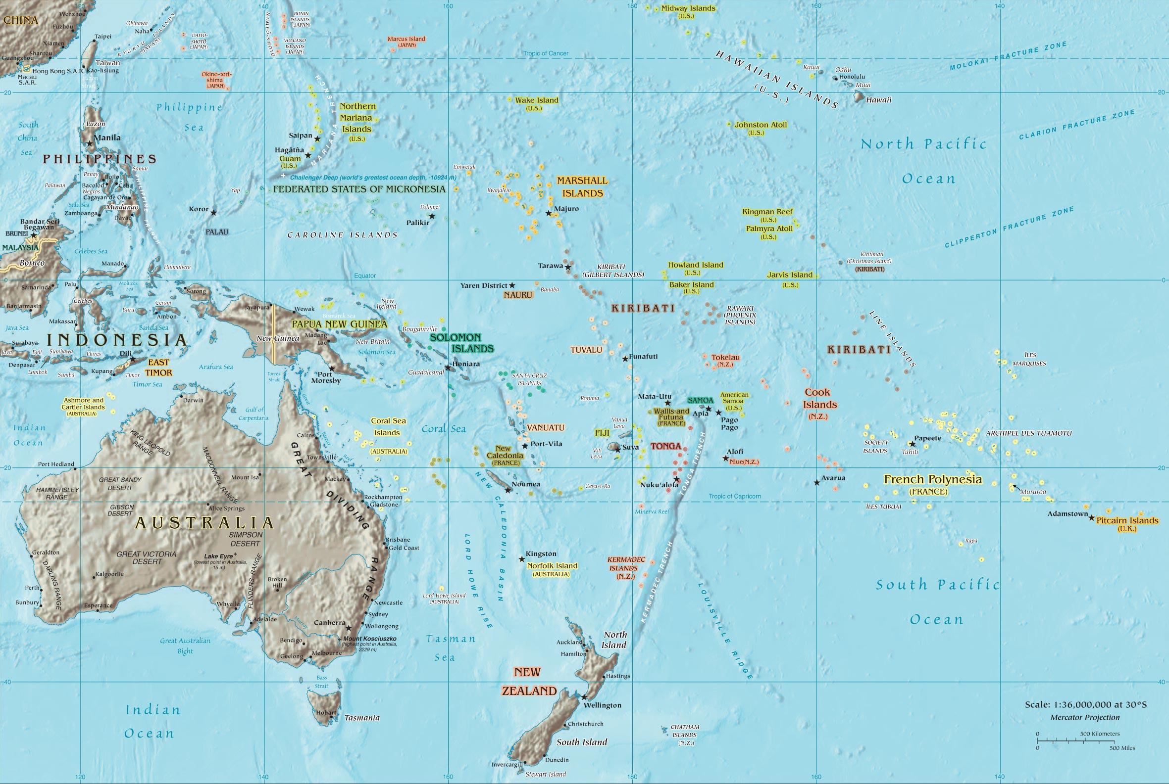 Oceania Map mappery