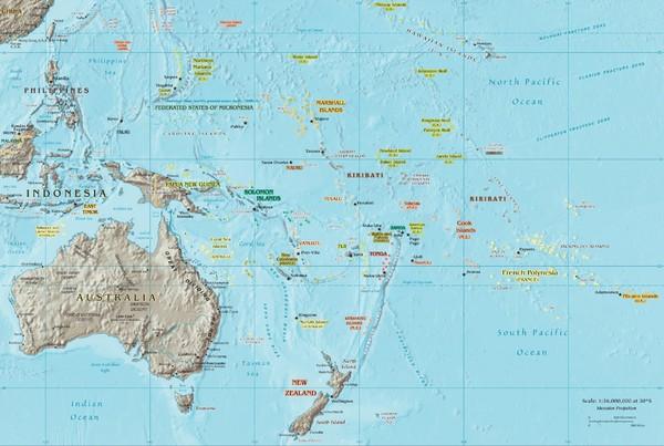 Oceania Map Mappery - Oceania map