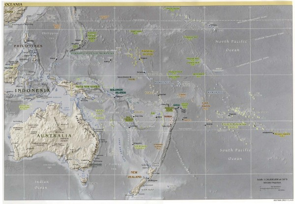 Oceania Overview Map