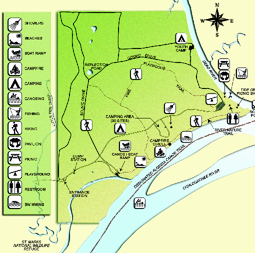 Ochlockonee River State Park Map