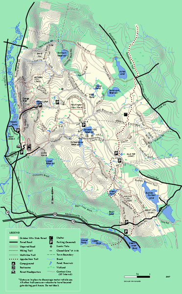 October Mountain State Forest trail map