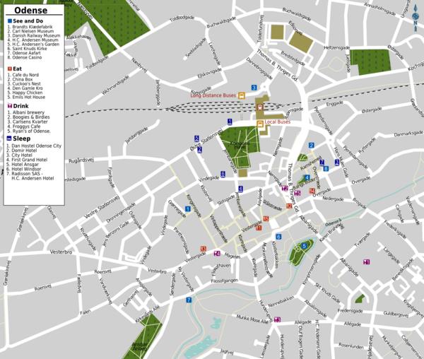 Odense Denmark  city photos gallery : Odense Tourist Map Odense Denmark • mappery