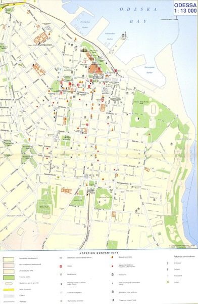Odesa Tourist Map