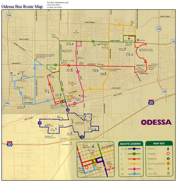 Odessa Bus Route Map