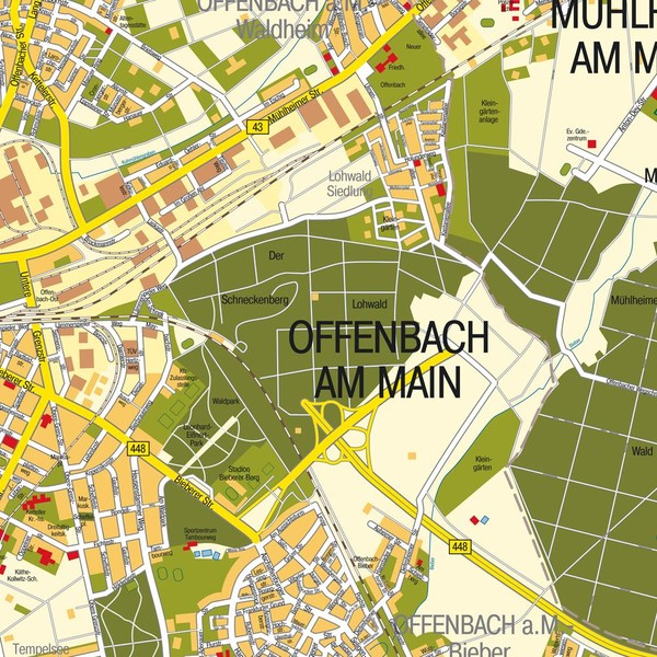 Offenbach Am Main Map Offenbach Am Main Germany Mappery
