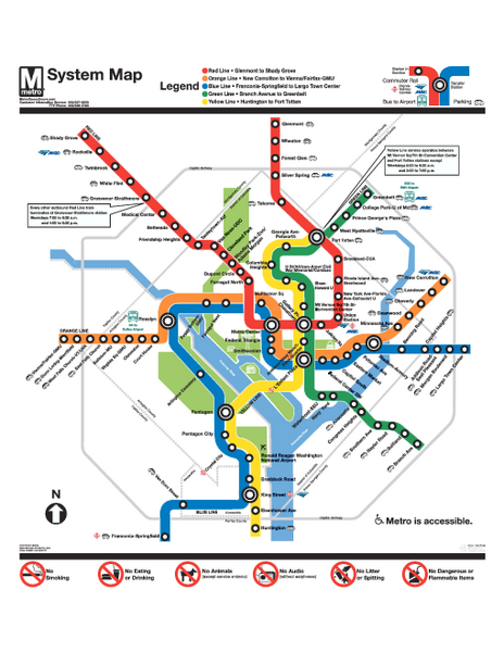 Official Washington DC Metro map - Washington DC • mappery on