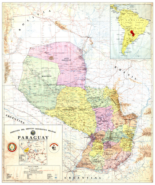 Official map of Paraguay