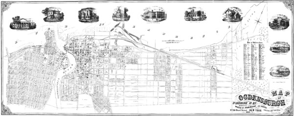Ogdensburg, New York Historical Map