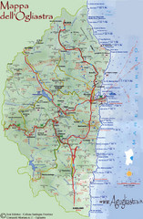 Ogliastra Tourist Map