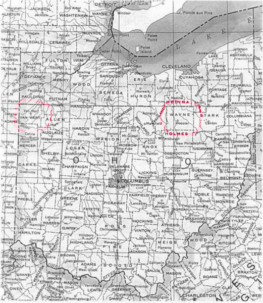 Ohio County Map Ohio mappery