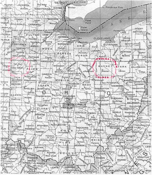 Ohio County Map Ohio Mappery - Map of ohio with cities