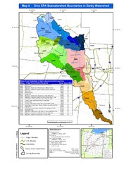 Ohio EPA Subwatersheds Boundaries in Darby...