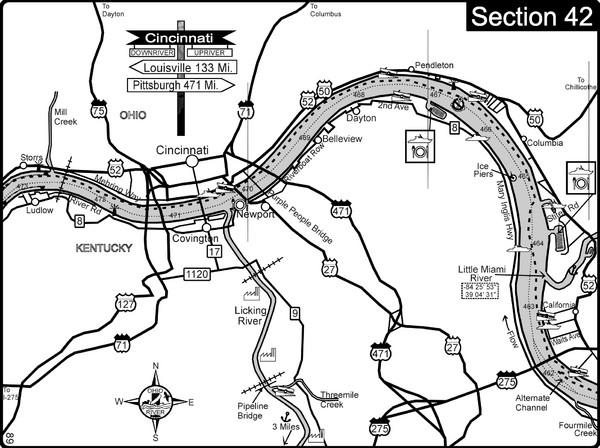 Cincinnati Ohio Map on