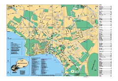 Ohrid tourist map