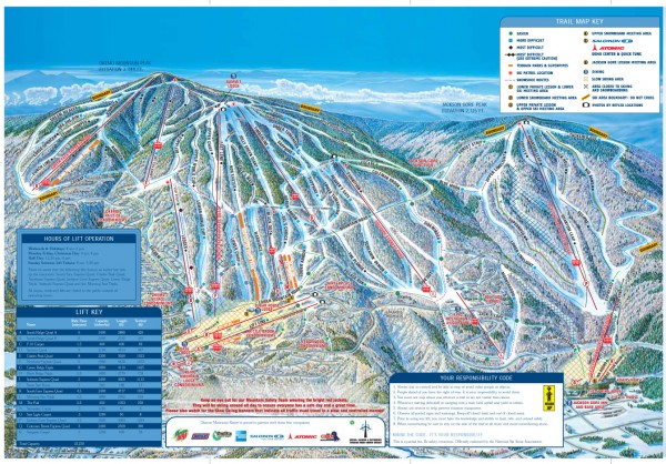 Okemo Mountain Resort ski trail map 2006-07