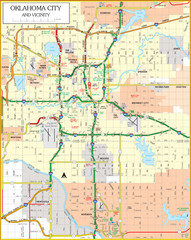 Oklahoma City, Oklahoma Tourist Map