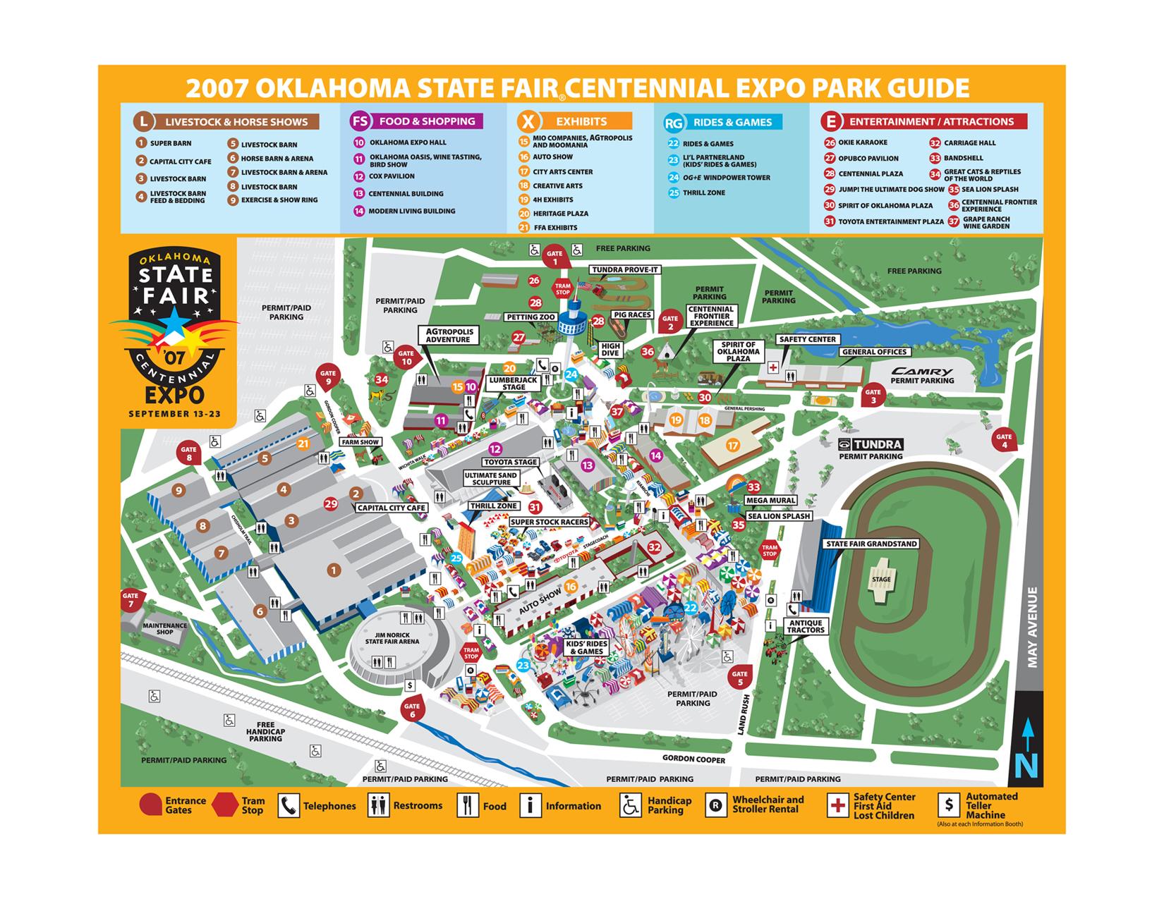oklahoma state fair park map my blog