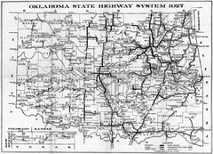 Oklahoma Road Map Oklahoma Mappery - Oklahoma highway map