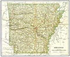 Old Arkansas Map