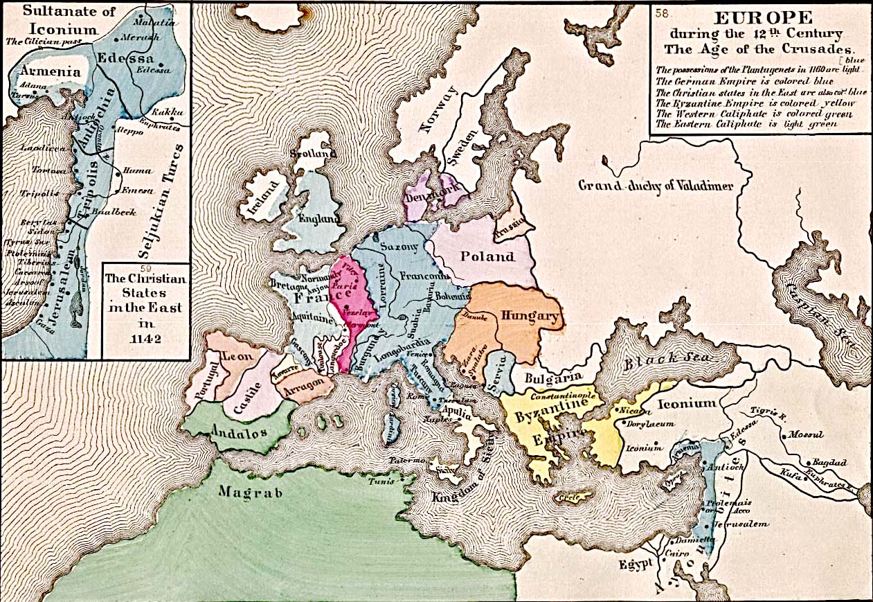 Old Map of Europe 12th century london mappery