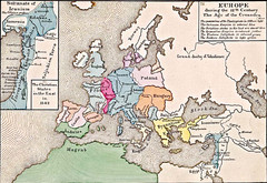 Old Map of Europe - 12th century
