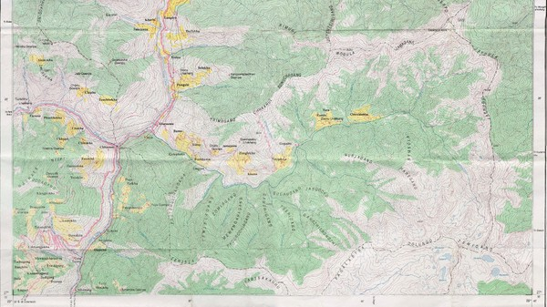 Old Map of Thimphu 2