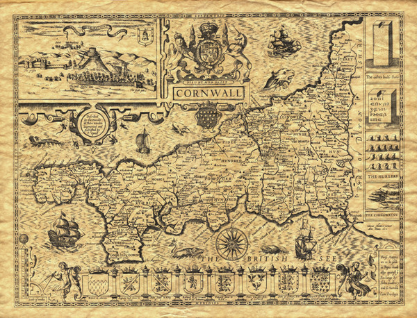 Old Maps: Cornwall Map