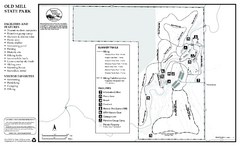Old Mill State Park Summer Map
