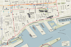 Old Montreal and Old Port Bike Map