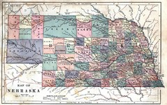 Old Nebraska Map