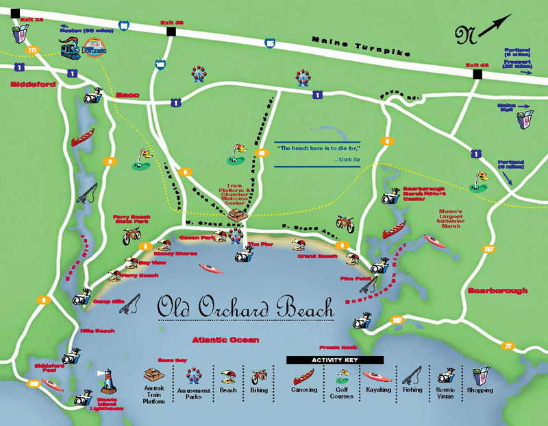 Old orchard beach tourist map old orchard beach mappery