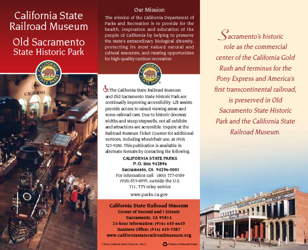 Old Sacramento State Historic Park Map