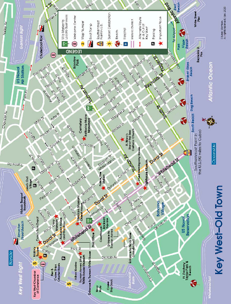 key west florida map pdf