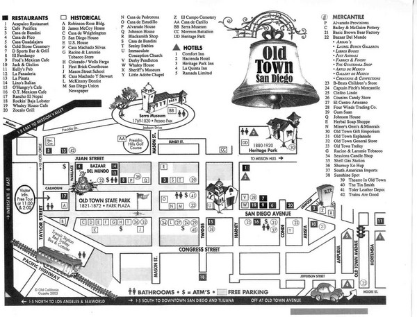Old Town Map   Old Town San Diego CA • mappery