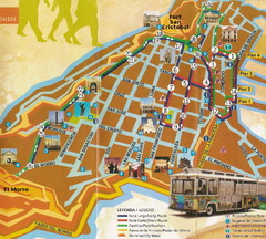 Old Town San Juan and El Morro Map