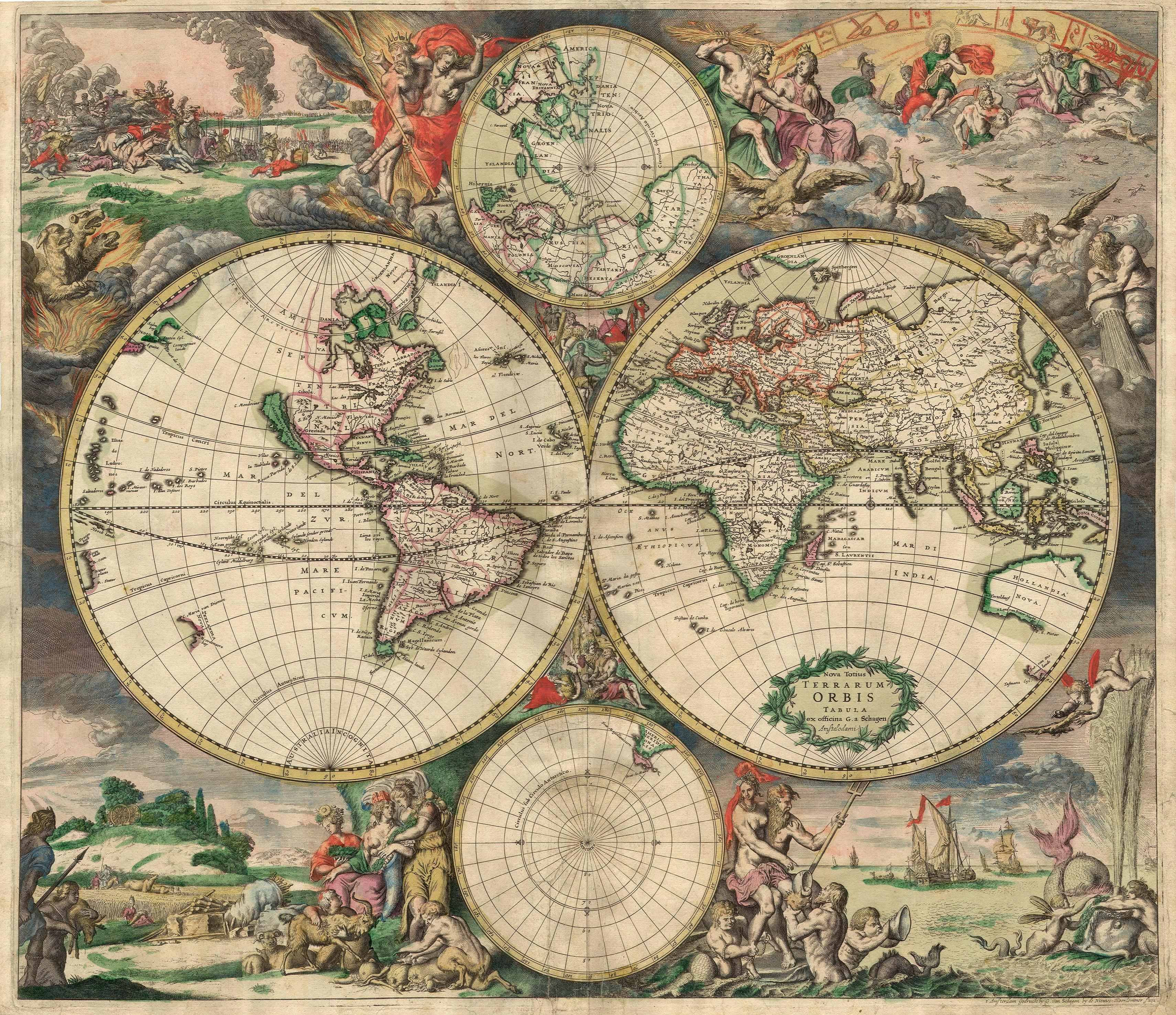 Old World map, 1689 See map details Created 1689