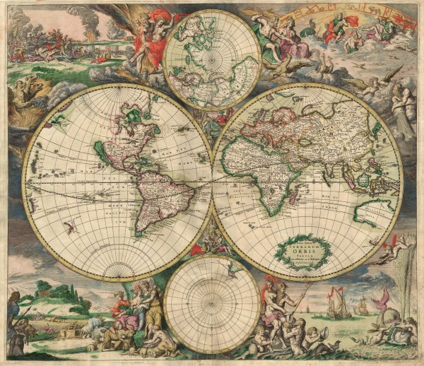 Old World map, 1689