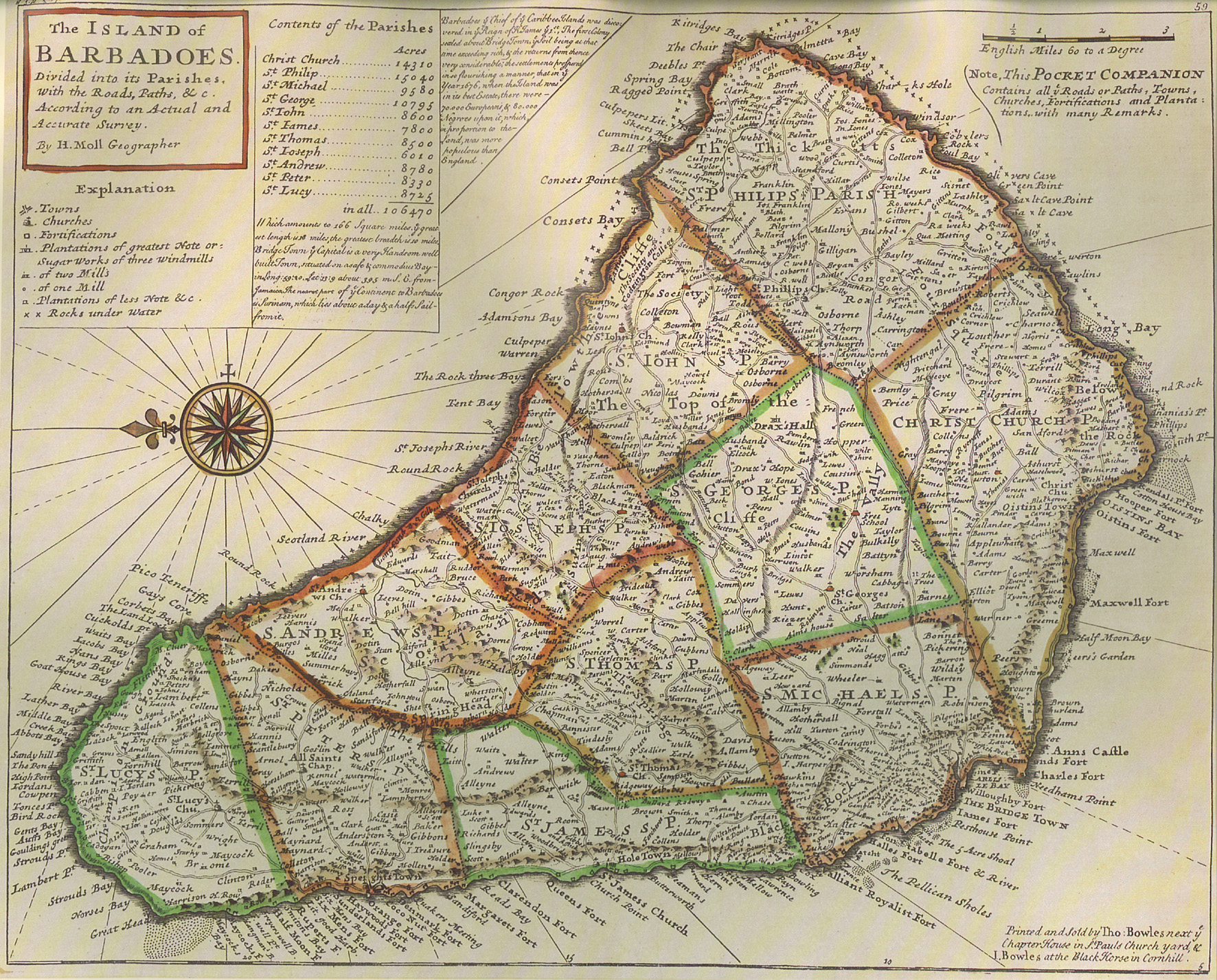 Old Time Map Of Barbados Barbados Mappery