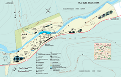 Ole Bull State Park Map