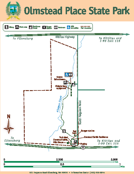 Olmstead Place State Park Map