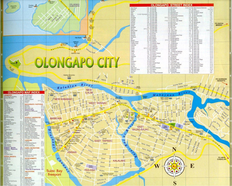 Olongapo Map Olangapo Zambales Philippines Mappery Citiestips Com