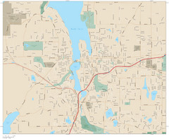 Olympia, Washington City Map