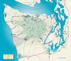 Olympic National Park and Peninsula Map