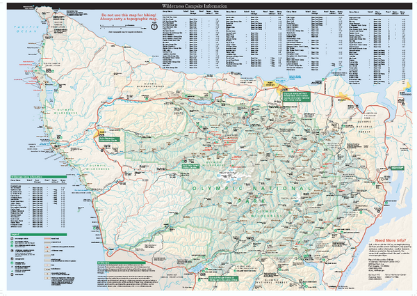 Olympic National Park wilderness campsite map
