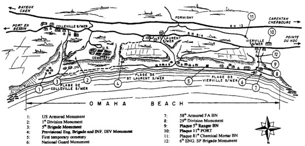 Omaha Beach Map