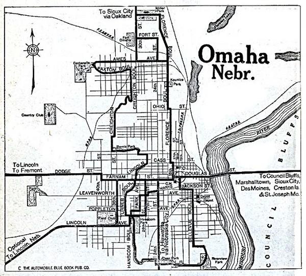 Omaha Nebraska 1920 Map Omaha Nebraska Mappery