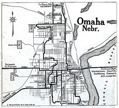 Omaha Nebraska 1920 Map